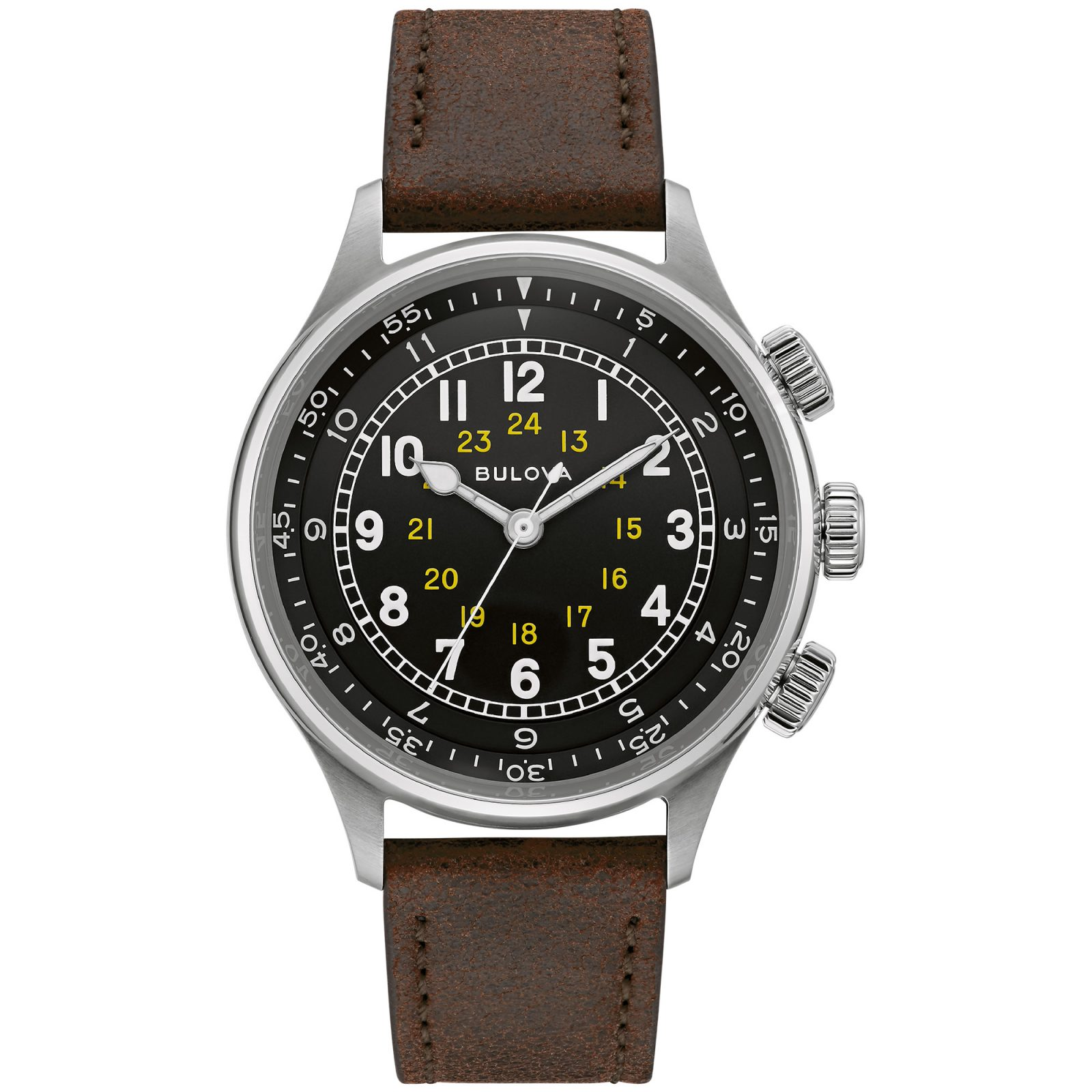New Release: Bulova Military Hack & A 15 Pilot Watch Watch